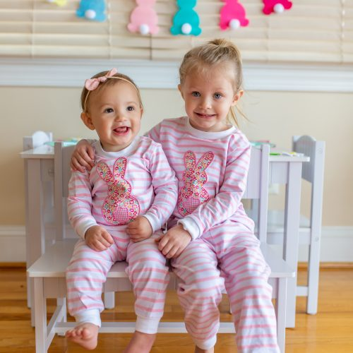 All Things Easter! Jammies, Baskets, & Kids Table Decor | by Jessica Linn | Matching Easter pajamas for girls