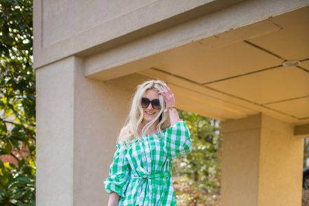 The Perfect Spring Dress | Green Check Dress From Target by Jessica Linn