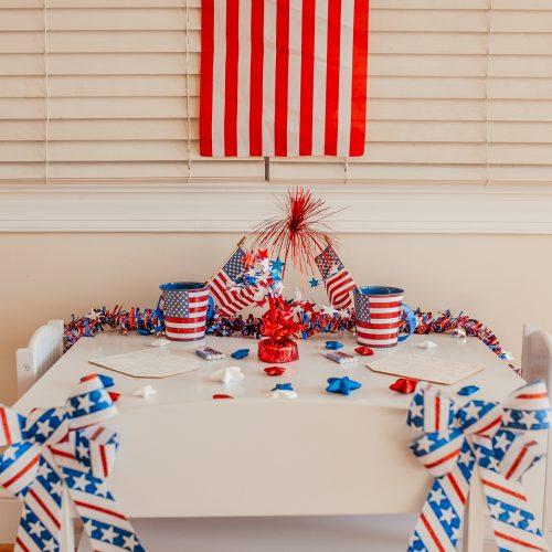 Dollar Tree 4th Of July Kids Table Decor by Jessica Linn