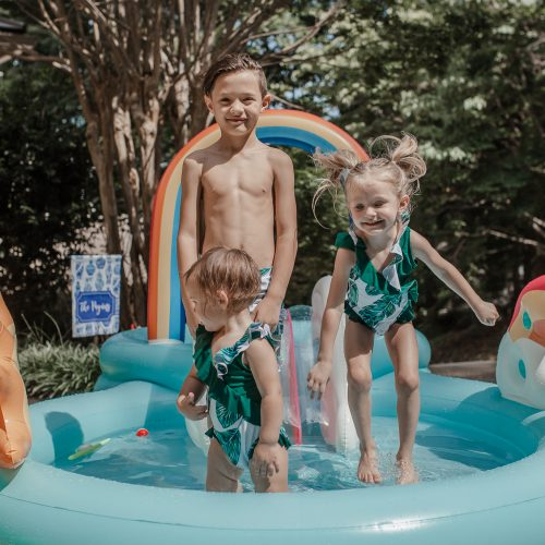 7 Ways To Stay Cool Without A Pool by Jessica Linn Target rainbow kiddie inflatable pool